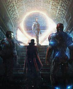 《Avengers: Infinity War / Wolverine, Captain America, Doctor Strange and Iron Man》