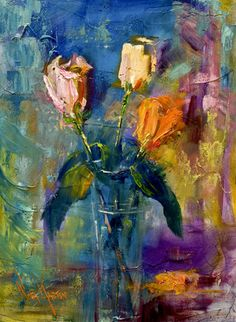 Oil Painting, flowers. gorgeous