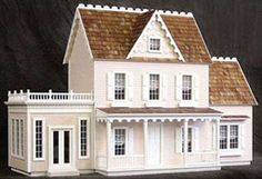The Vermont Farmhouse w/ext.   | Build A Dollhouse |  www.thedollhousecompany.com