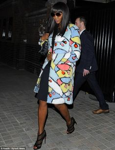 Turning heads: Naomi Campbell, who stepped out in with Street Style