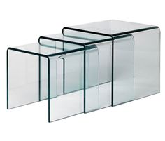 Modern coffee tables quality from boconcept nesting tables in nest of three square clear glass tables 285 watchthetrailerfo