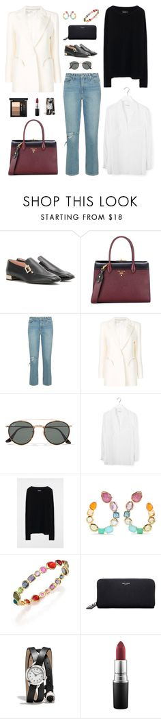 """""""🤠"""" by lilsgrey ❤ liked on Polyvore featuring Roger Vivier, Prada, Paige Denim, Blazé Milano, Ray-Ban, Equipment, Zadig & Voltaire, Ippolita, Yves Saint Laurent and Coach"""
