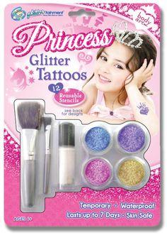 Glittertainment Princess Glitter Tattoos $13.99