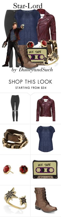 """Star-Lord"" by disneyandsuch ❤ liked on Polyvore featuring Topshop, VIPARO, Riccardo Forconi, Samya, David Yurman, I Know The Queen, Wrapped, American Rag Cie, marvel and guardiansofthegalaxy"