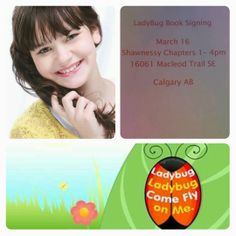 Come Out and Say HI! I will be at the Shawnessy Chapters this Sunday signing copies of my Ladybug Book. Book Signing, Say Hi, Journalism, Tgif, Coming Out, Ladybug, Superstar, Berry, Sunday