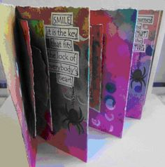 Dyan Reaveley – Dylusions Accordian Stitched Book   Another Dyan Reavely Dylusions class coming up at Everything Scrapbook and Stamps.