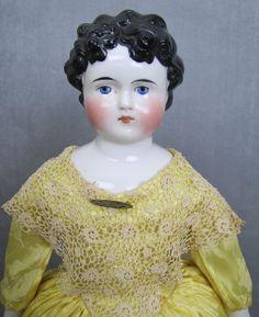 Choice Quality Dolley Madison China Head Doll c1865