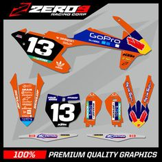 Manufactured with premium high bond adhesive, and ultra conformable laminates to ensure your graphics will last as good as they look! Customise your graphics with optional number plate colour, and race number styles. Ktm 85, Kit, Iron Man Birthday, Graphic Design, Dirt Bikes, Stickers, Orange, Ebay, Honda