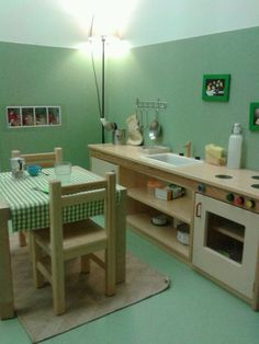 beautiful kitchen area/dramatic play center