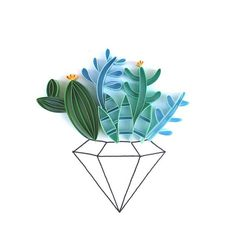Tiny cactus terrarium quill #quilling #papercutting #paperart #papercraft #lgenpaper #art_we_inspire #cactusart #cactus #terrarium #terrariumart