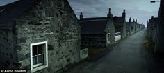 The stone cottages of Inverallochy, located in the north eastern tip of Aberdeenshire