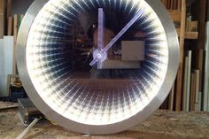 diy wall clocks 842947255241969859 - Infinity Mirror Clock Making : 5 Steps (with Pictures) – Instructables Source by Mirror Wall Clock, Diy Mirror, Infinity Mirror Table, Infinity Spiegel, Old Washing Machine, Light Up Canvas, Wall Watch, Cool Clocks, Old Wall