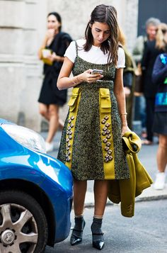 The Layering Trick Every Street Style Star Is Doing at Fashion Week via @WhoWhatWear