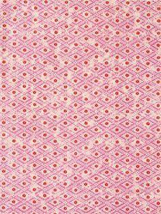 Katazome Persimmon Diamond & Pink Fine Paper