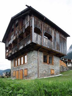 EXiT architetti associati, Tabià, Selva di Cadore, Dolomiti, 2016