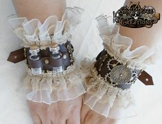Love these steampunk cuffs