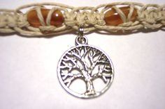 hemp necklace hemp choker tree of life hemp jewelry. $10.00, via Etsy.