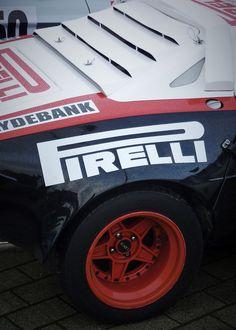 Lancia Stratos....shod with massive, sticky PIRRELLI tyres.