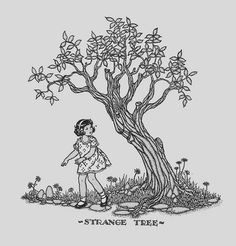 """""""Strange Tree"""" """"Voices of Verse, Book Three"""" edited by Harry Flynn, Ray MacLean, and Chester Lund. Illustrated by Marion Humphrey's Matchitt. Lyons & Carnahan, 1934. This particular book was for Room III, Grade 6 of Assumption School in Eden Valley, Minn."""