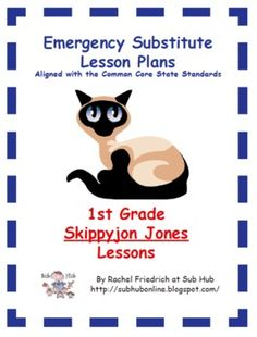 Read all of the Skippyjon Jones books during an author study. Literature-based lessons incorporate reading, writing, & math CCSS. Teacher Lesson Plans, Teacher Resources, Teaching Ideas, Substitute Teacher, Substitute Binder, Art Games For Kids, Math Story Problems, Art Sub Plans, Emergency Sub Plans
