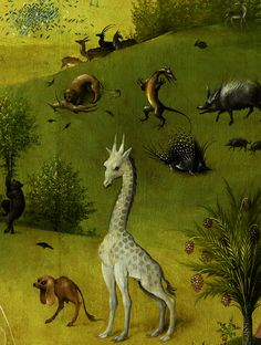 The Garden of Earthly Delights (detail) Hieronymus Bosch. Hieronymus Bosch, Jan Van Eyck, Renaissance Kunst, Garden Of Earthly Delights, Dutch Painters, Medieval Art, Surreal Art, Art History, Painting & Drawing