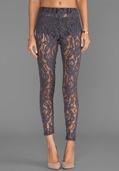 LISA MAREE Hunting Begins Lace Leggings in Acid Black at Revolve Clothing - Free Shipping!