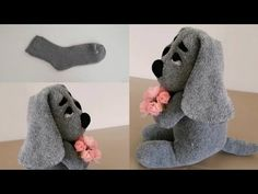 Ana Sayfa - YouTube Sock Crafts, Fabric Crafts, Sewing Crafts, Sewing Projects, Stuffed Animal Patterns, Diy Stuffed Animals, Chien Basset, Crochet Baby Sandals, Sock Toys