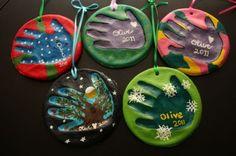 Salt Dough Handprint Ornaments by monika197308