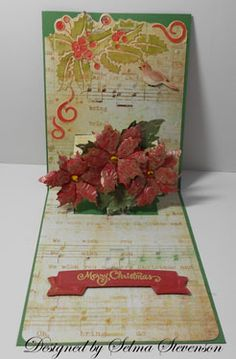 Selma's Stamping Corner and Floral Designs: Poinsettia Pop Up Card