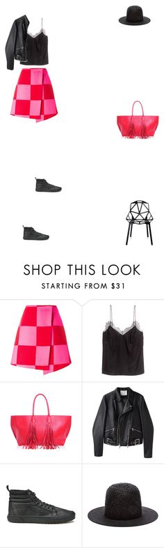"""""""Grace"""" by zoechengrace ❤ liked on Polyvore featuring MSGM, H&M, Sara Battaglia, 3.1 Phillip Lim, Vans, TIBI and Magis"""