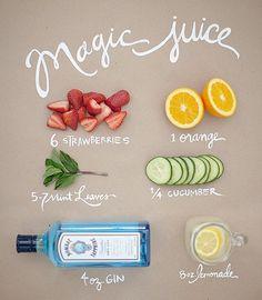 easy fruit, lemonade & gin cocktail. Design*sponge is a good source for drink recipes