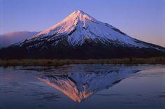 Winter Sunrise Over Mt. Taranaki, Egmont National Park, New Zealand by Betts, Harley - Wall Art Giclee Print or Canvas