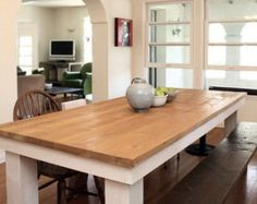CUSTOM: Wood Beam & Iron Pipe Round/Square Dining by StyleOfAges