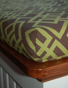 DIY Bench Cushion Cover: 1 Hour, $15 Makeover | Apartment Therapy