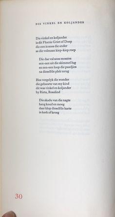 Afrikaanse gedig - Ingrid Jonker My Journal, Rook, Afrikaans, Food For Thought, Poems, Thoughts, Poetry, Verses, Poem