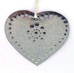 Tin Heart Ornament - Richard Gabriel - New Mexico Creates - Stunning Art Work by New Mexico Artists