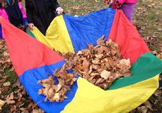 Fall parachute