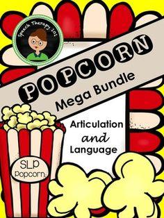 Speech Therapy Popcorn Bundle