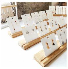 Wood Jewelry Display, Jewellery Display, Jewelry Box, Girls Jewelry, Jewelry Making, Custom Jewelry, Diy Jewelry, Jewelry Hooks, Zuni Jewelry
