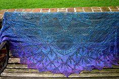 Ravelry: In Dreams Mystery Shawl pattern by Susan Pandorf LOTR themed shawl.