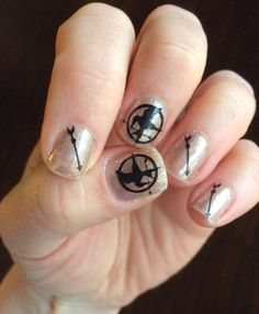 Hunger Games Nail Decals, Ready to Ship! Great Stocking Stuffer! Mockingjay, Catching Fire, Katniss