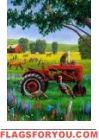 Tractor Critters Garden Flag