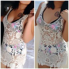 ‼️️SALE‼️Cute lace shirt Good for wearing over your bathing suit :-) Tops Tank Tops