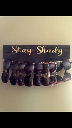Sunglasses organizer, glasses storage, BROWN/WHITE with GOLD vinyl Never lose your glasses again with this organizer. So clever and useful. Bathroom Organisation, Closet Organization, Jewelry Organization, Organization Ideas, Storage Ideas, Jewellery Storage, Diy Storage, Closet Hacks, Purse Storage