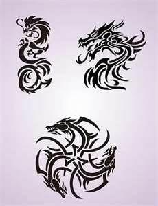 Dragon Tattoo Stencil Design From Kingdom