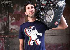 Funkalicious: Retro 80's Astronaut w/ Boom Box T-Shirt Design ...
