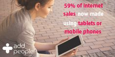 Are you losing sales because your website isn't #mobilefriendly?   59% of online sales are now made using tablets and mobile devices - make sure your #website is easy to use on these devices!   www.addpeople.co.uk