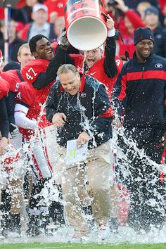 Coach Mark Richt, hope to see this picture recreated a LOT this season!