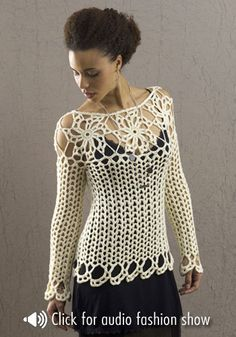 Avalon top, free crochet pattern. See this and more free patterns at Naturally Caron's pattern boutique!