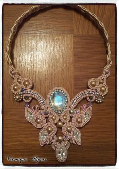 "Necklace soutache "" Shine and smoothness"""
